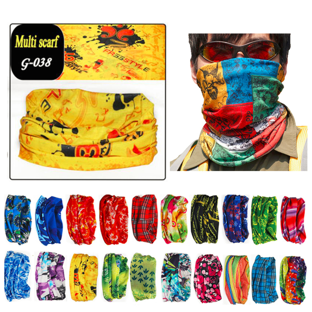 Men Sport Scarf Hiking Scarves Sun Protection Reversible Bandanas Motorcycle Turban Hand Bands Cycling Headwears