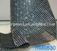 10 ярдов 30 Строк пластиковые горный хрусталь сетки с отделкой SS8 2.5 мм прозрачного хрусталя камни Черный базы для Свадьбы Одежды аксессуары