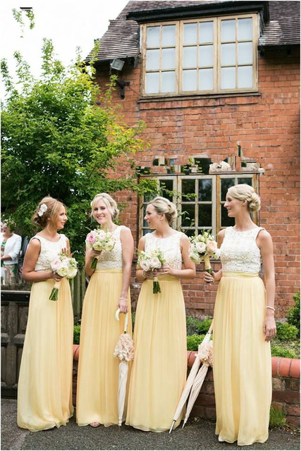 Elegant A Line Bridesmaid Dresses 2017 Scoop Neck Sleeveless Floor Length Long Party Dress Gowns For Weddings
