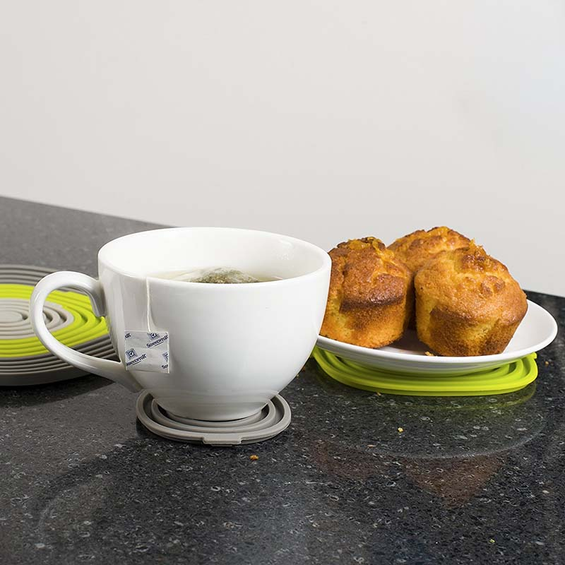 TEENRA 3Pcs / set Silicona Pot Holder Plate Mat Mat Pad Pad - Cocina, comedor y bar - foto 5