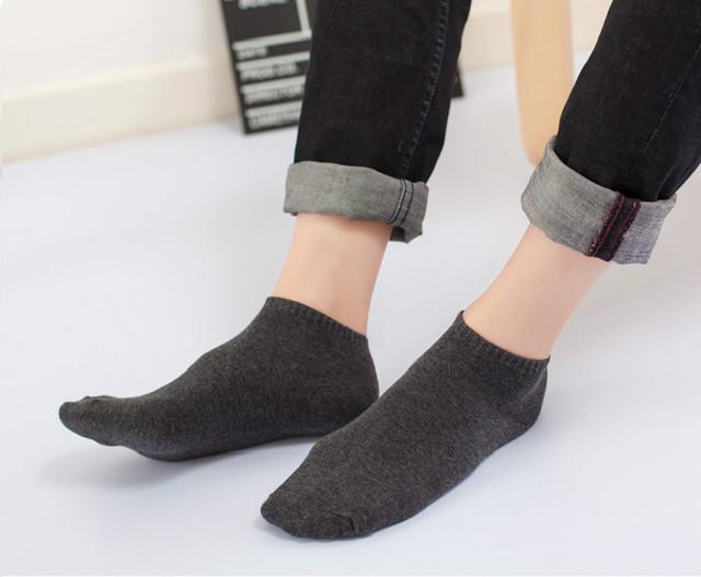 100% Cotton Black Men Short Socks Simple Soft Elastic Solid Ankle Socks Causal Daily Spring Summer Autumn Thin Socks Male