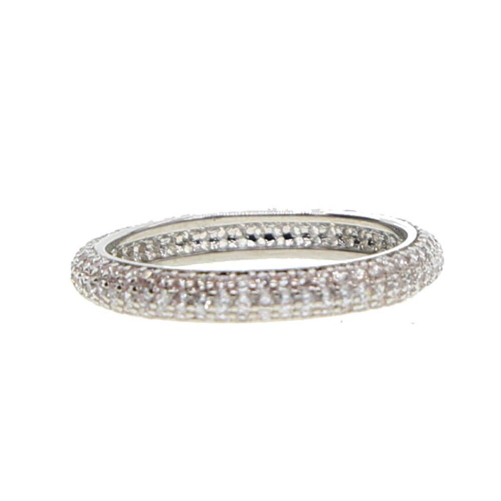 ขนาด 7 STACK STACKABLE คุณภาพสูงทองกระชับคลาสสิก CZ งานแต่งงานแหวน Rose Gold สีออสเตรียคริสตัลเครื่องประดับขายส่ง
