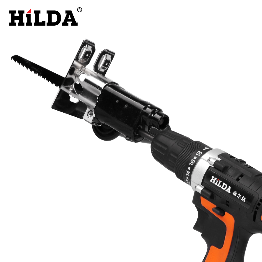 Image 3 - Hilda Reciprocating Saw Power Tool Reciprocating Saw Metal Cutting Wood Cutting Tool Electric Drill Attachment With BladesElectric Saws   -