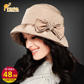 Lady winter fashion Warm hat Princess pleated snow hat windproof Cotton Hat  B-0735