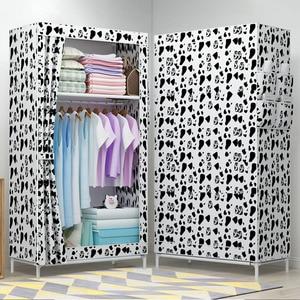 Image 2 - Simple Folded Students Small Wardrobe Combination DIY Assembly Wardrobe Single Clothing Storage Cabinet Dustproof Cloth Closet