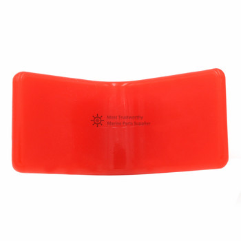 3″ Polyurethane 'V' Bow Stop Roller for Boat Trailer Non Marking Yellow Orange