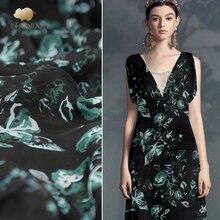 Цифровой струйный шелк жоржет ткань Лето Тонкий перспективный шарф платье Рубашка шелковая ткань из тюля оптом шелковая ткань