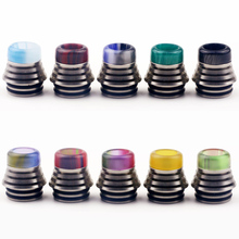 цены на 1pc 810 metal drip tip epoxy resin mouthpiece vape accessory for tfv8 810 rda rta atomizer  в интернет-магазинах