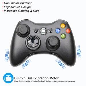 Image 2 - สำหรับXbox 360 2.4G Wireless Controllerคอมพิวเตอร์PCตัวรับสัญญาณไร้สายระยะไกลสำหรับMicrosoft Xbox360 จอยสติ๊กControle