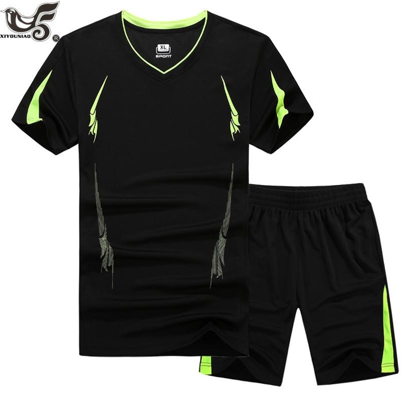 Xiyounniao novo plus tamanho m 88xl, 9xl conjuntos de camisas masculinas treino masculino verão secagem rápida t camisas esportivas