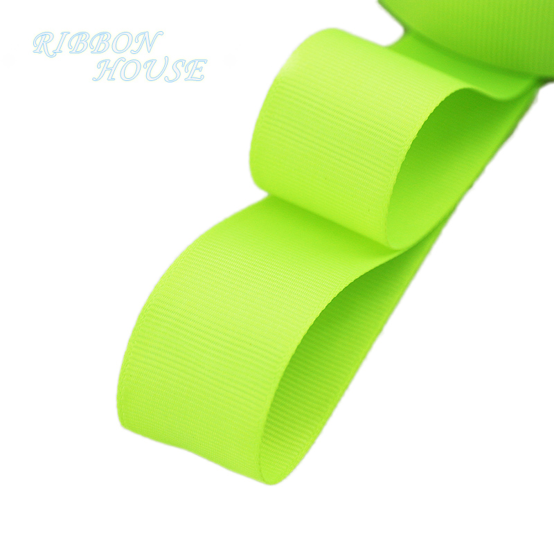 (5 м/лот) 1 «(25 мм) флуоресцентные лента Гро-гро зеленая оптовая продажа подарок обёрточная бумага Рождество украшения ленты