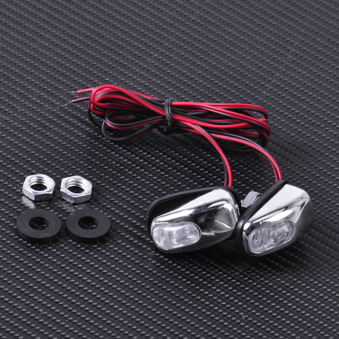CITALL 2pcs LED Light Lamp Windshield Washer Wiper Jet Water Spray Nozzle Spout Wiper Washer Eye For Mercedes Audi Nissan VW Kia