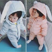 0 ~ 24 М Зимние Детские Snowsuit Пиджаки Пальто Для Девочки Снег Износ Одежда Зима Одежда для Новорожденных