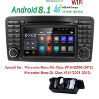 7 cargps навигации для Mercedes Benz ML GL W164 ML300 ML350 DVD Радио Android8.1 iPod WI FI 4G USB SD Cam в OBD2 DAB + Обратный Cam