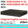 Dahua Original Englsih Version NVR PoE 4CH 8CH NVR2104HS P S2 NVR2108HS 8P S2 Up To