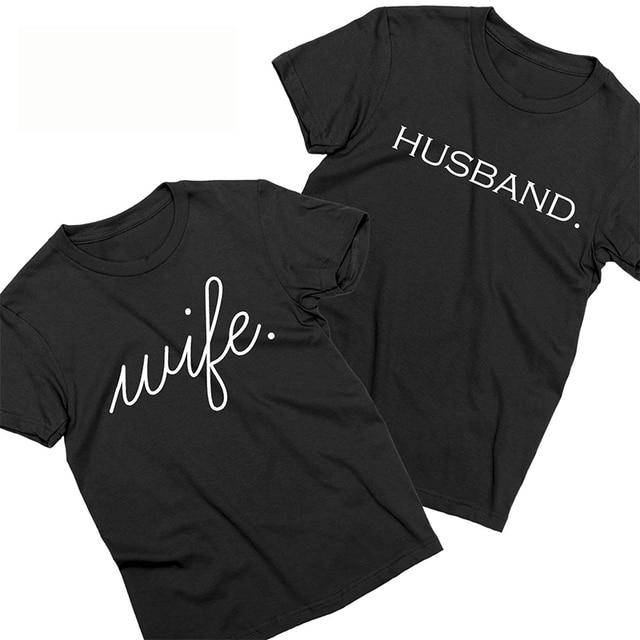 b42008d3 EnjoytheSpirit Couple Tshirt Husband and Wife Matching Shirts Just Married  Honeymoon Couples Shirts Crewneck Casual Unisex