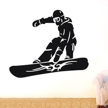 Free shiping/decor sticker Snowboarder skiing sports Wall Decor Removable Vinyl Home Decal Wall Sticker Art DIY Mural citizen aw7010 54e