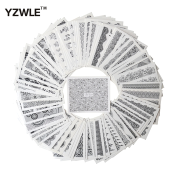 цена на YZWLE 67 Sheets DIY Decals Nails Art Water Transfer Printing Stickers Accessories For Manicure Salon