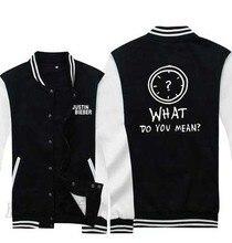 Justin Bieber Hoodies what do you mean hiphop Hooded Winter cotton baseball Coats Jackets Men Sweatshirt