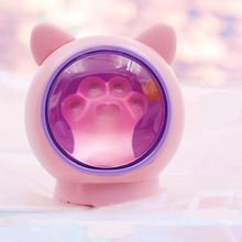 Cute paw-shaped lights Ambient light romantic Night bedroom bedside Resin Crafts Childrens gifts.