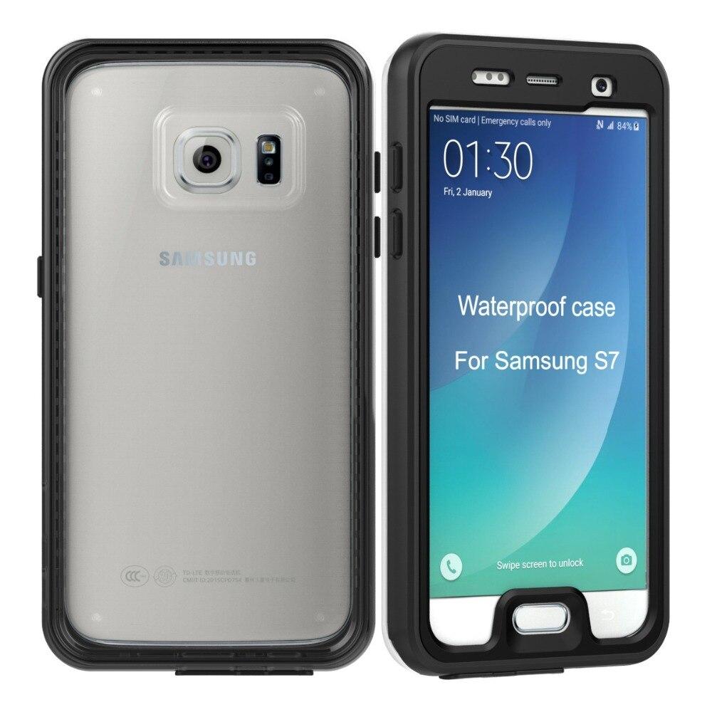 imágenes para Caja Del Teléfono Ultra-delgado IP68 A Prueba de agua A Prueba de Golpes Con el Volumen/Home/Audio/Acceso de Carga para Samsung Galaxy S7 G930/G930F/G930FD