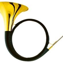 Bb охотничий рожок желтый латунный корпус с чехлом и мундштук, музыкальные инструменты профессиональные