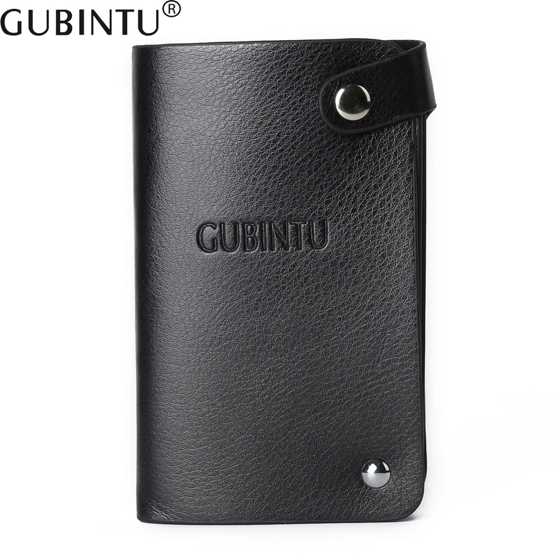 GUBINTU 30 business Card holder Rotating short wallet Men and Women Bank credit holder High quality buckle purse D3103-8 frank buytendijk dealing with dilemmas where business analytics fall short