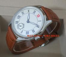 44mm PARNIS White dial Asian 6498 Mechanical Hand Wind movement men's watch Mechanical Wristwatches wholesale 155