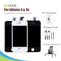 3 Free Gift AAA Quality LCD Screen For IPhone 4 4g 4s Display Digitizer Assembly Replacement