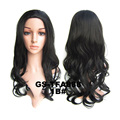 New Brand Negro Women 3/4 Half wig Natural black wave wig Synthetic hair pad Rambut peluca peruca sintetica cabelo perruque bone