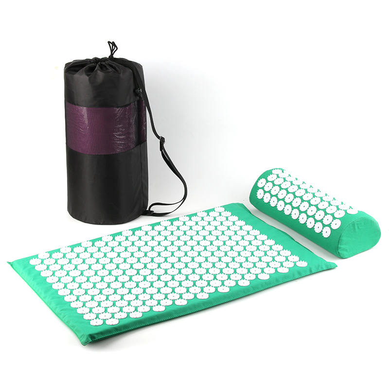 Massager Cushion ABS Spike Acupressure Mat With Pillow + Storage Bag Relieve Pain Improve Sleep Yoga Mat Spike Mat Suit
