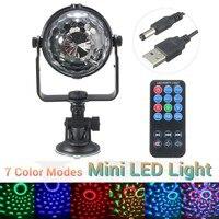 Mini 3W LED RGB Stage Lighting Effect Remote Control Disco Ball Light Party Show DJ Disco