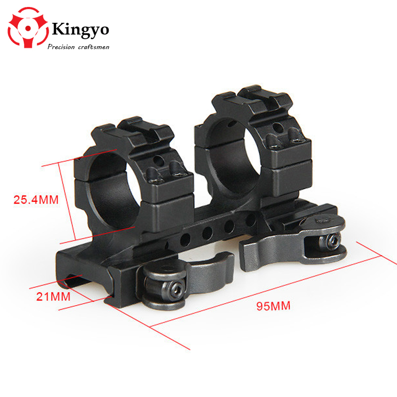 Tactical 25.4 mm One Piece Double Scope Rings Higher Mount