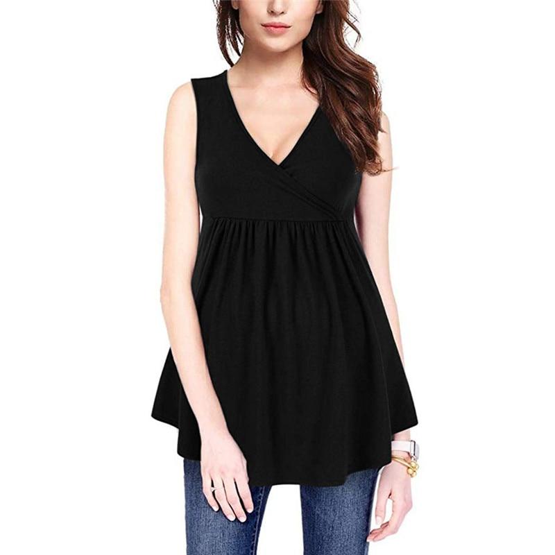 Ladies Pregnant Women Breastfeeding Solid Short Sleeve Blouse Tops Summer Shirt zwangerschaps kleding ropa embarazada #4j10(China)