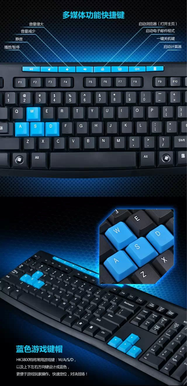 Keyboard Wireless And Mouse Combo Hk 3800 Hk3800 24g Gaming With Dpi Control For 1 X User Manual