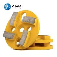 Z LION 80mm 3pcs Metal Bond Grinding Disc Diamond Floor Polishing Pad 4 Segments Soft Medium Hard Abrasive Disc