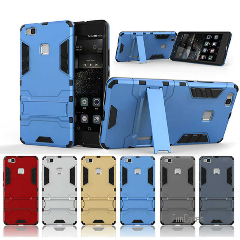 2016 Reale Sporcizia-resistente Per Huawei P8/Lite P9 Più Il Robot Armatura 6 Colore Scelta Per p8lite 9lite P9plus Nuovo capinhas