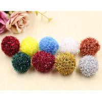 New Style Bling Strings Chiffon Festival Decoration Fur Balls DIY Girls Elastic Headband Clips Decoration Ornament Accessories
