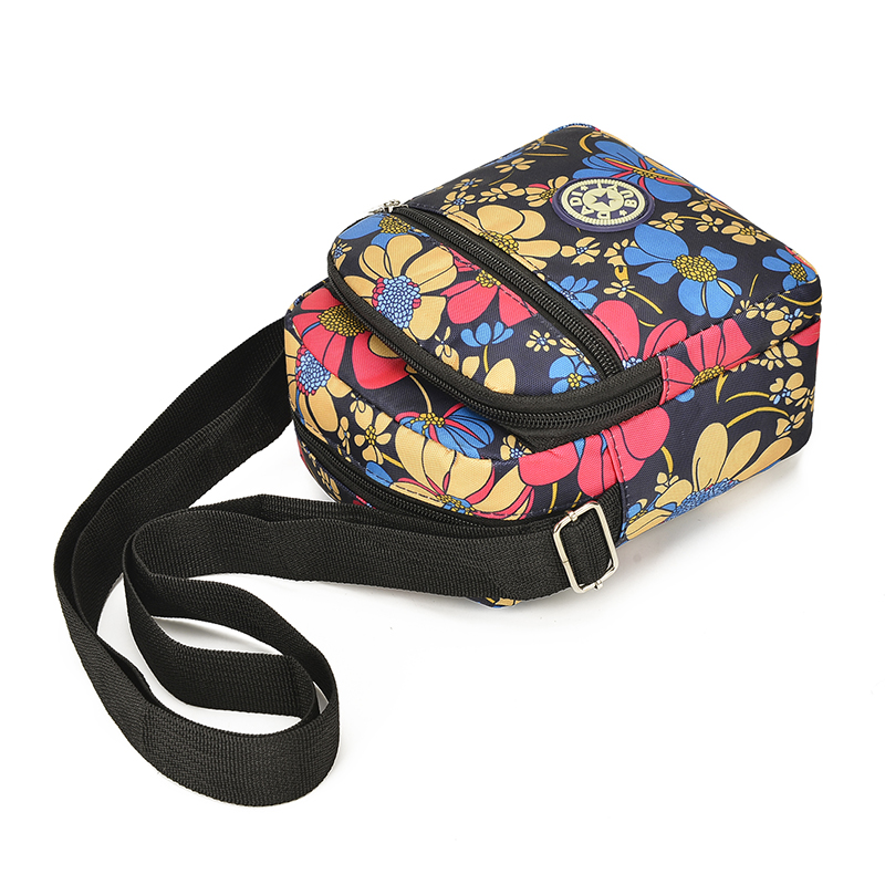 2019 Womens Bags Nylon Waterproof Shoulder Flower Handbags Small Crossbody Ladies Messenger