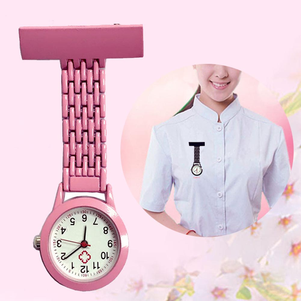 Hot Nurse Quartz Watch Brooch Pocket Brooch Clip Medical Nurse Pocket Nursing Watch MSK66