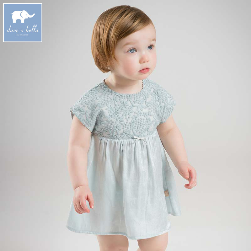 Dave bella summer baby girls floral dress children Lolita lovely clothes toddler infant costumes DBZ7595 db7266 dave bella baby dress girls infant toddler clothing children birthday party clothes kids summer lolita dress