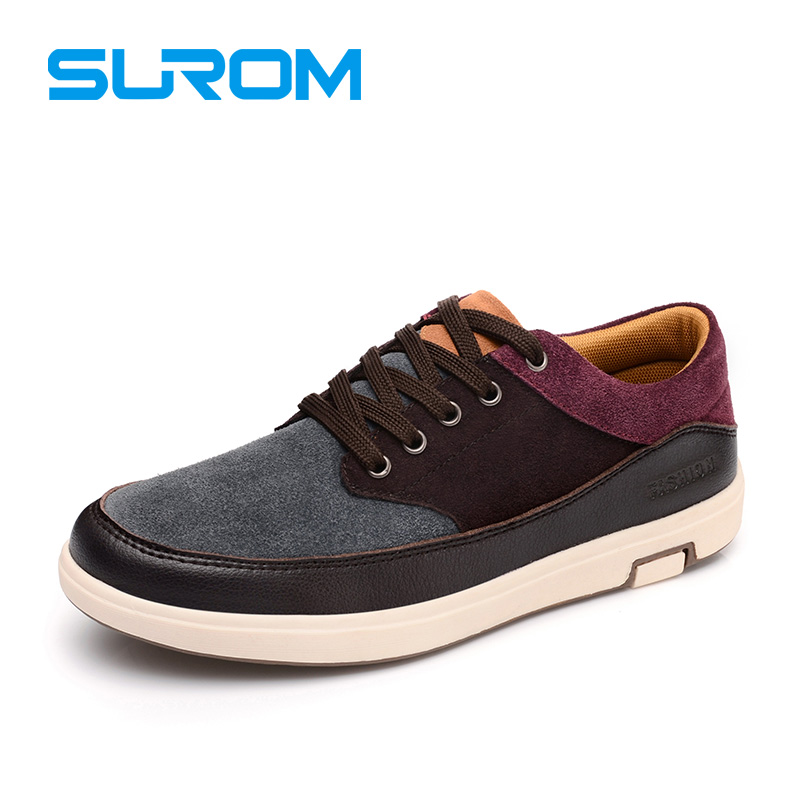 2017 Men's Leather Casual Shoes Suede Moccasins Men Loafers Patchwork Color Brand...