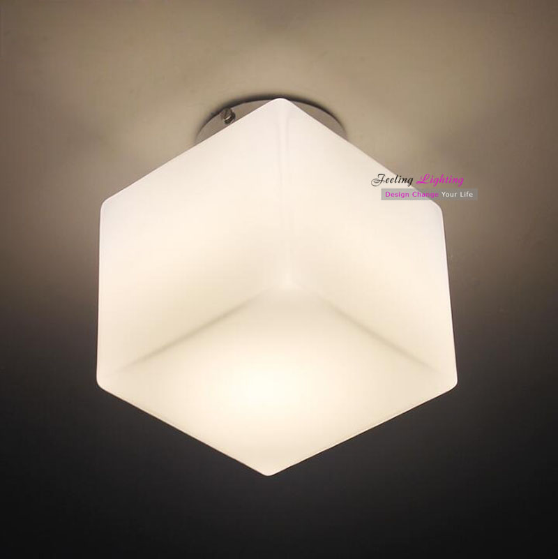 simple modern ceiling lamp cube ice style white gl cheap ceiling lighting