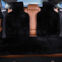 ROWNFUR 100% Natural fur Australian sheepskin car seat covers universal size for black seat cover accessories automobiles 2016