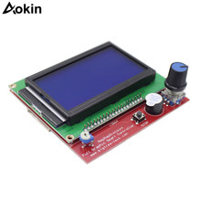Nieuwe 1 x LCD12864 Controller + 1 x Switch Board + 2x30 cm Kabel LCD Bedieningspaneel 3D printer Controller Display(China)