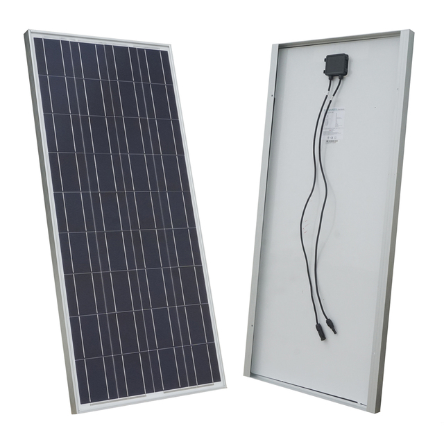 USA Stock 100 Watt 100W 12V Solar Panel Battery Charger for RV Boat Home Camping Off Grid Free Shipping