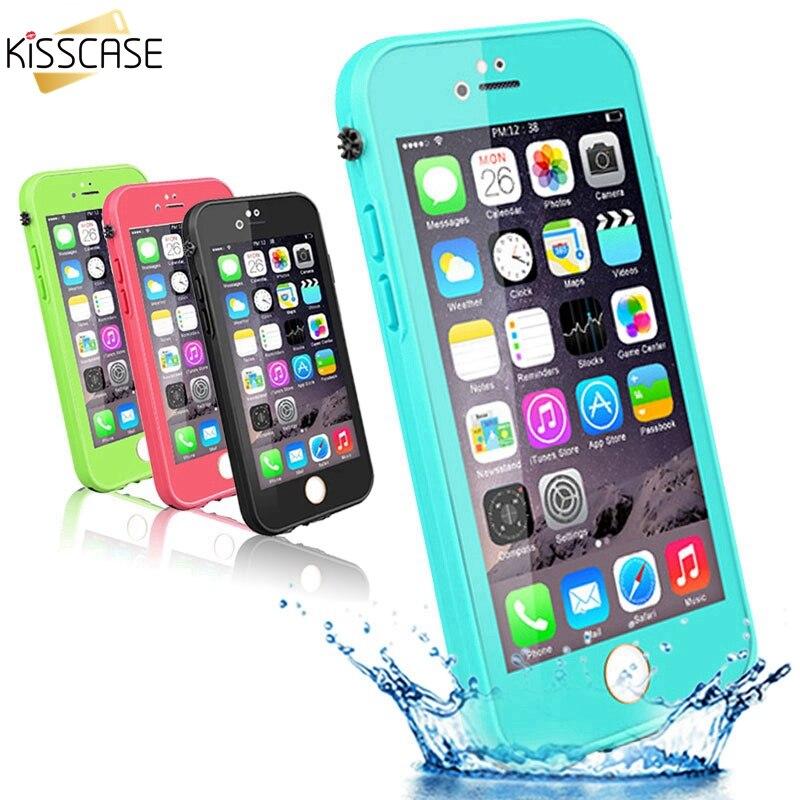 KISSCASE Vattentäta fodral för iPhone 5s Se 7 XR XS Max Touchbar - Reservdelar och tillbehör för mobiltelefoner - Foto 3