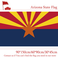 Free shipping Arizona State Flag 3*5 Feet 90*150cm 60*90cm America 30*45cm Car For Campaign Vote