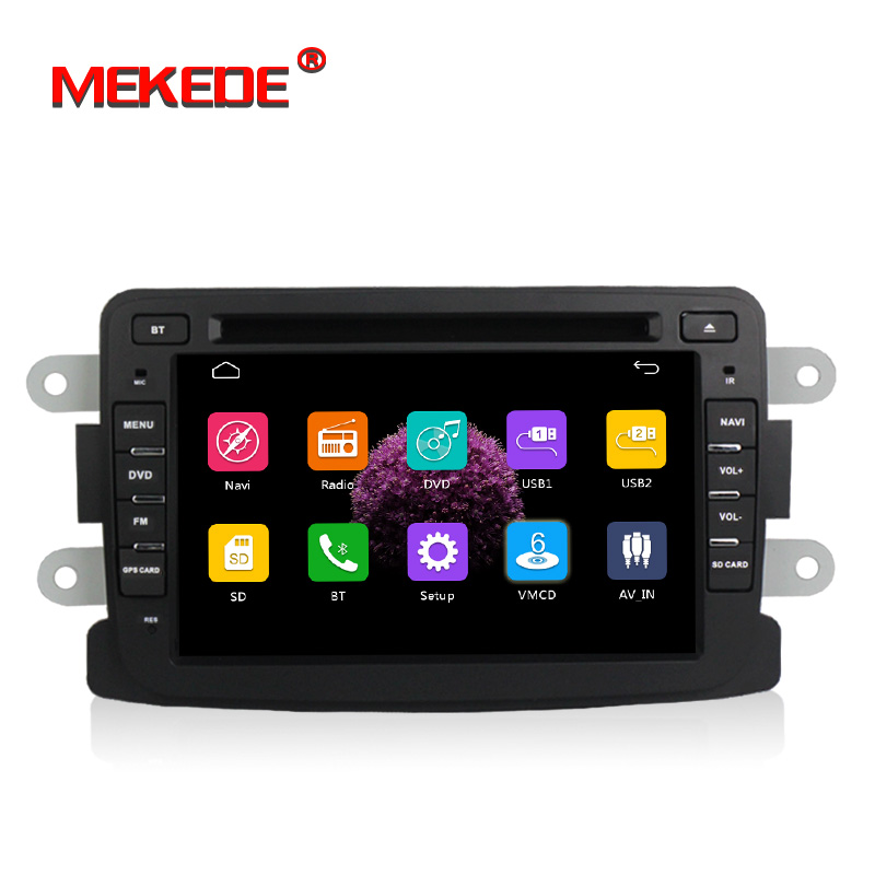 free shipping 7 HD screen Car DVD Radio Stereo For Renault Dacia Dokker Duster Logan Sandero GPS Navigation Media Head unit
