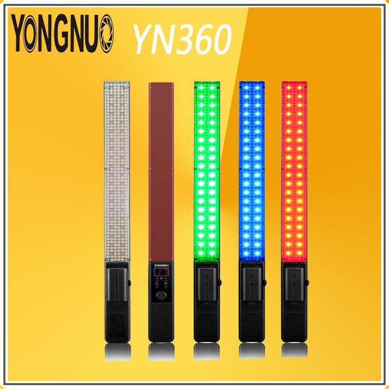YONGNUO YN360 poche LED vidéo lumière baguette photographie lumière 3200 k 5500 k rvb coloré 39.5 CM glace professionnel Photo canne LED